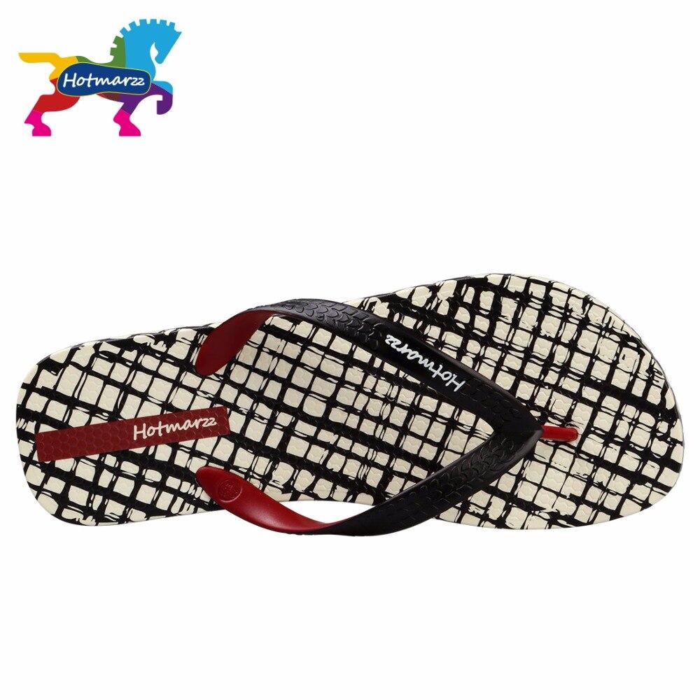 Image 4 - Hotmarzz Men Slippers Lattice Flip Flops Summer Beach Sandals Pool Shower Bathroom Slides Shoesshoes shoesshoes slideshoes shower -
