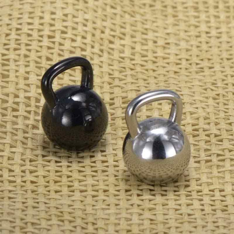 Kettlebell Collana Pendente dell'acciaio inossidabile Bilanciere Allenamento Sportivo Uomini Gioielli Accessori del Panno di Modo 23 in Catena Dei Monili