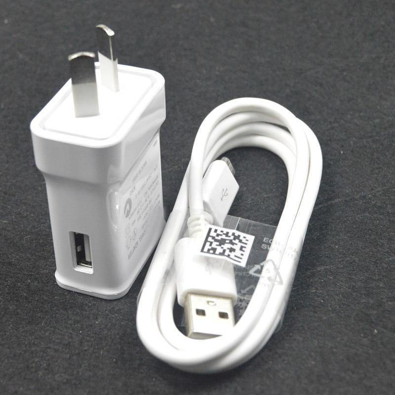 5 V 2A micro USB Sync Data kabel ponsel + Au plug Dinding Charger - Aksesori dan suku cadang ponsel - Foto 1