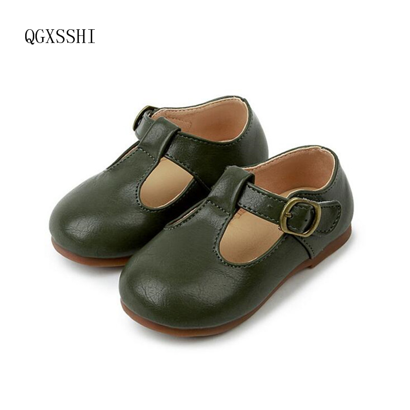 QGXSSHI New Girls Boys Soft Quality Leather Children Shoes Kids For Breathable Sneakers  ...