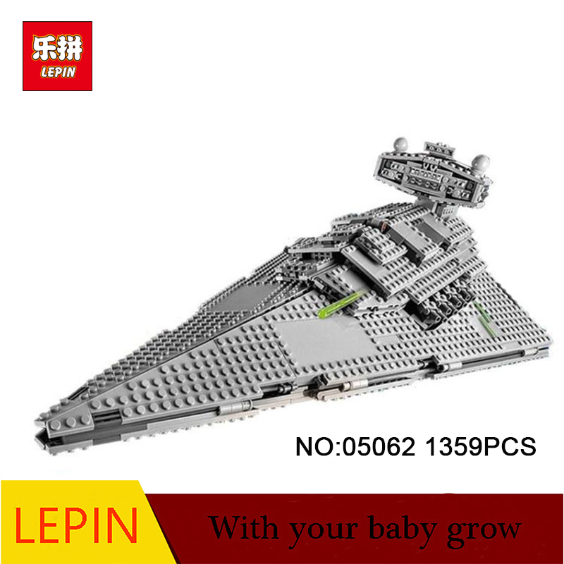 DHL Lepin 05062 Series The Imperial Super Star Destroyer Set Educational Building Blocks Bricks Compatible Toy Gift 75055 05028 star wars execytor super star destroyer model building kit mini block brick toy gift compatible 75055 tos lepin