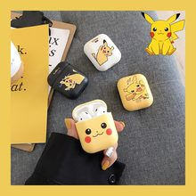 Cartoon Soft TPU Pokemons Earphone Cover Cases for Apple AirPods 1 2 Wireless Wired Charging Box Cute Pikachus Bag Case(China)