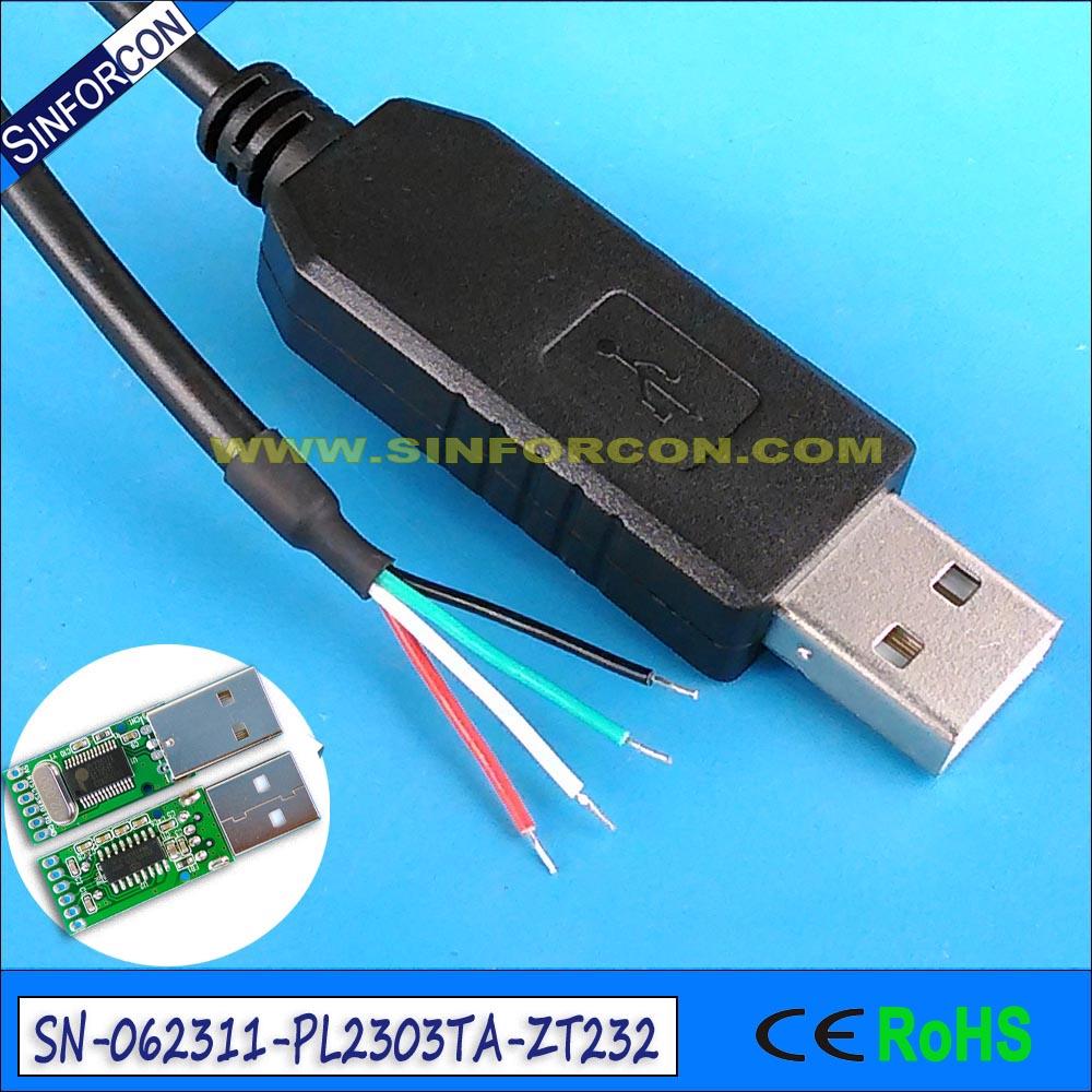 USB rs232 מתאם פורה pl2303 USB חוט טורי - כבלים למחשב ומחברים