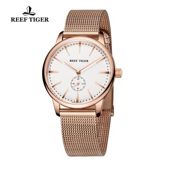Reef Tiger/RT Casual Couple Watches for Men Rose Gold Tone Analog Quartz Watch RGA820 2