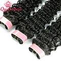 Produtos de Cabelo rainha Malaio Onda Profunda 3 Bundles/Lot Não Transformados Malásia Profunda Curly Virgem Cabelo 100% Humano Cabelo Weave 100 g/pçs