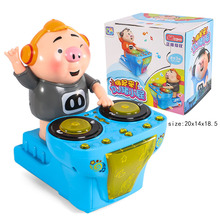 2019  Baby Early Toys DJ Music Electric Pig Amusing Funny Compatible Duplo Children Gift Kids