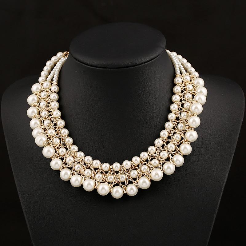 Hot Sale Women Party Pearl Jewelry Luxury Vintage Style