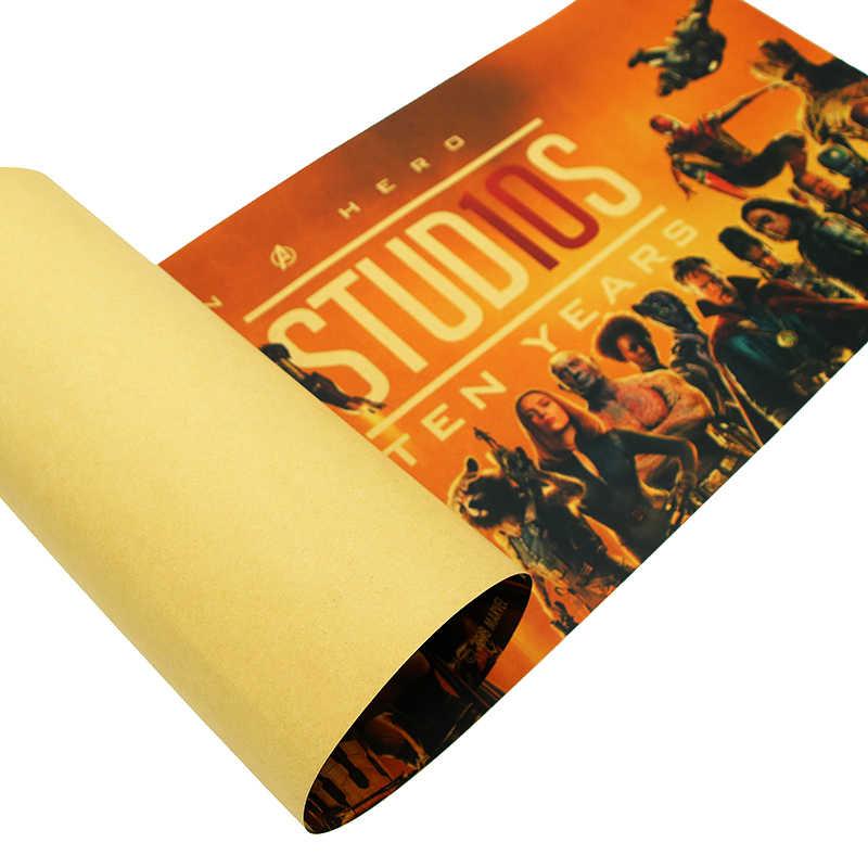 DLKKLB מארוול סרט פוסטר בציר נוקמי 10th יום השנה B סגנון קראפט נייר ציור דקורטיבי בר קפה בית קיר מדבקה