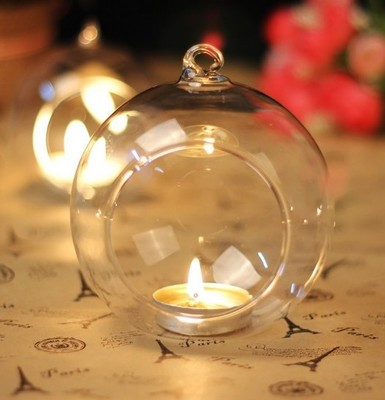 New Crystal Glass Candlestick Hanging Candle Holder Romantic Dinner Weeding Decor lin3860 image