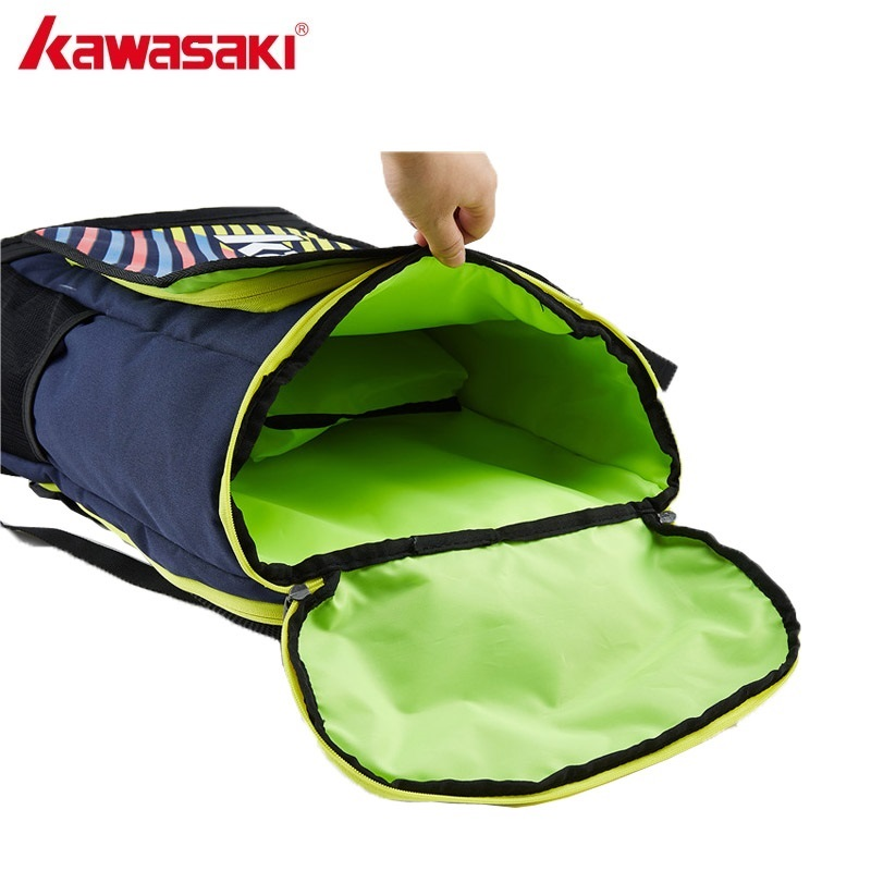 Kawasaki Waterproof Tennis Rackets Bag Badminton Backpack Squash Racquet Team Sports Bags Can Hold 2 Rackets With Shoe Bag
