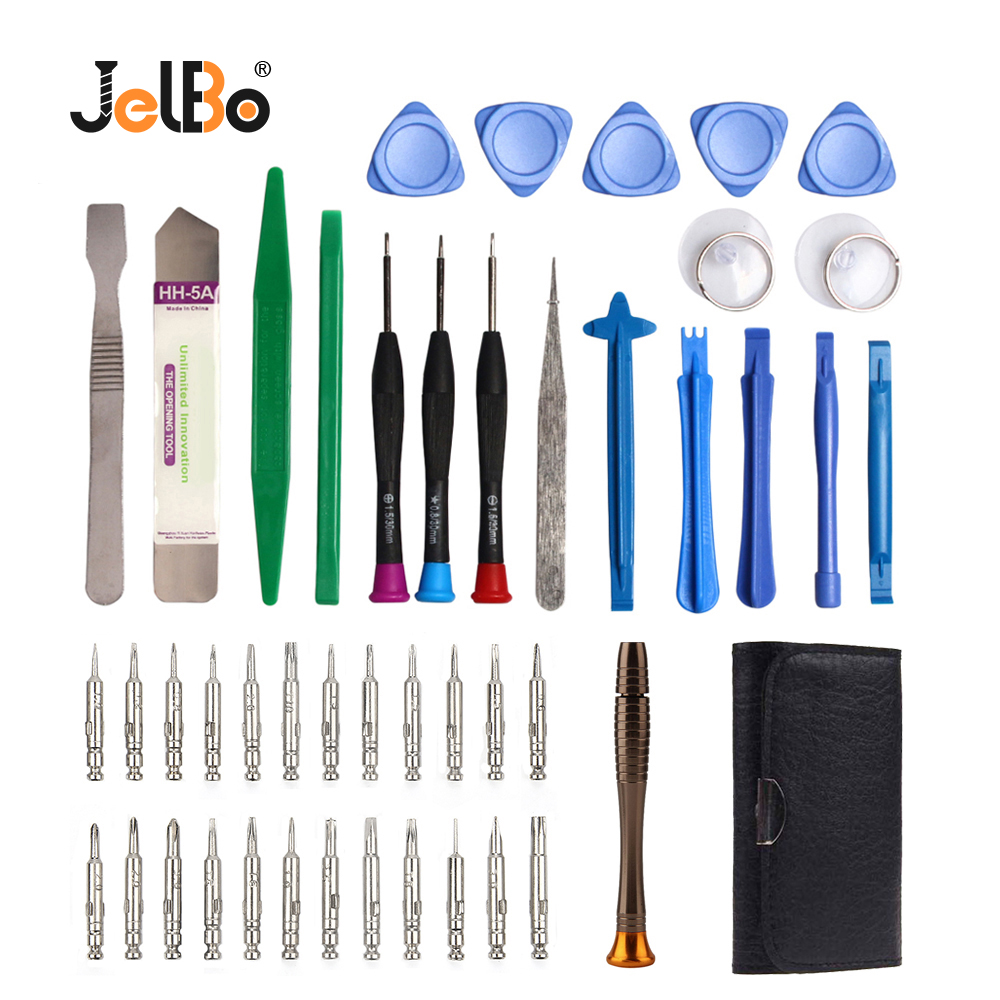 JelBo 45 in 1 LCD Screen Opening Screwdriver Pry Disassembly Hand Tools Set for Iphone Mobile Phone Repair Combination Tools image