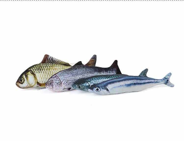 Плюшевые Креативные 3D Карп Рыба Форма кошка игрушка подарок милая имитация рыбы играющая игрушка для подарки для питомца Catnip рыба Фаршированная Подушка Кукла