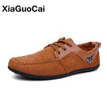 Xiaguocai новейшие модные мокасины для мужчин повседневная обувь Демисезонный дышащая обувь на шнуровке мужские водонепроницаемые Мокасины X21 65