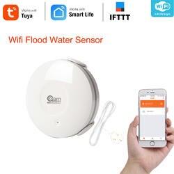 Coolcam Smart воды сенсор Wi-Fi, протечка воды Wi-Fi и утечки сенсорный датчик тревоги и приложение уведомления оповещения, без концентратора работает
