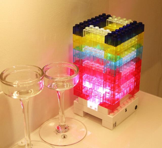 New Diy Led Night Light Touch Sensor Building Blocks Toy Home Gadget Decorative Bedside Desk