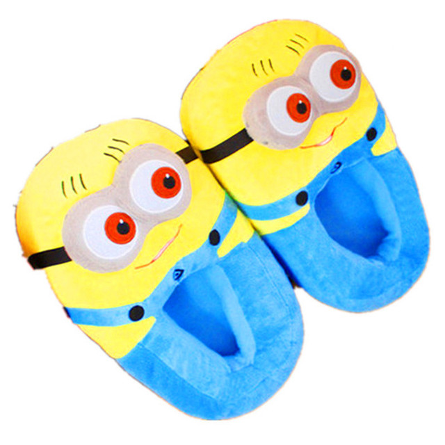 Minions Footwear Cotton Slippers Winter Slippers Home House Plush Shoes TCCS6068