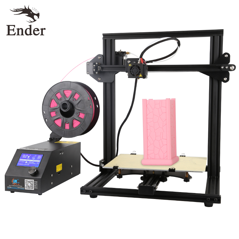 new updated version digital mini 3d printer fast prototyping machine kit 150 150 220mm print size and own software 2017 CR-10 Mini 3D printer DIY KIT i3 Large Print Size 300*220*300mm Continuation Print of Power Failure Creality 3D Printer