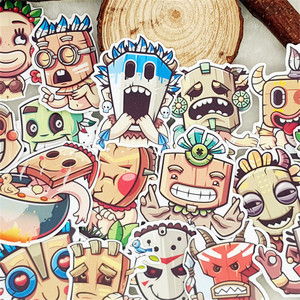 Image 1 - 25 pcs Anime retro character scrapbooking Stickers Laptop Sticker Decor Fridge Skateboard For Travel Suitcas diy tool