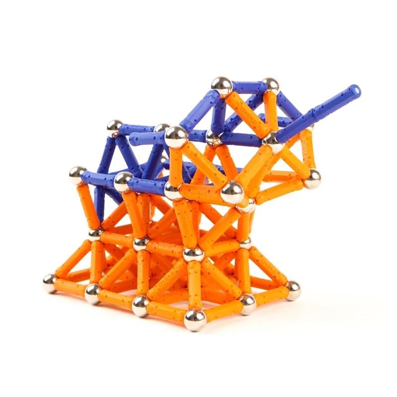 Magnet Bars Metal Balls Kids Magnetic Building Blocks Toys Construction Toy Accessories DIY Designer Educational Funny Toys