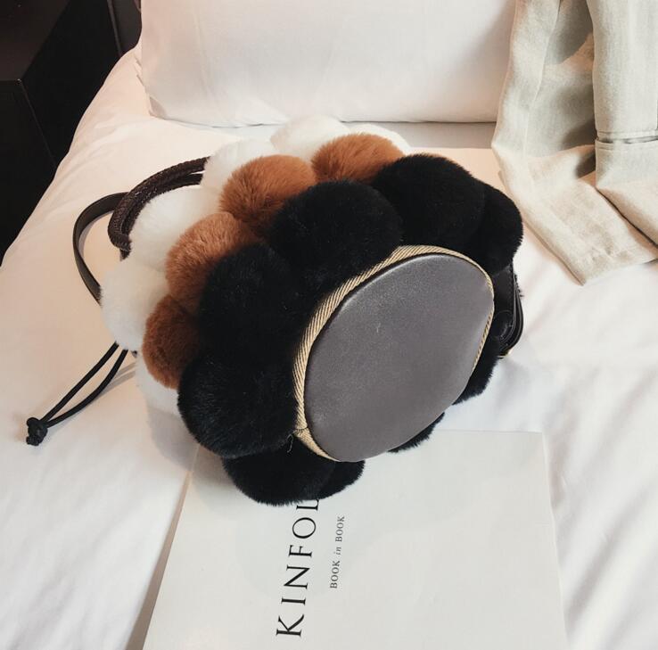 Winter Plush Fur Fashion Handbag Casual Tote Bag Women Crossbody Bag Female Shoulderbag #157 2