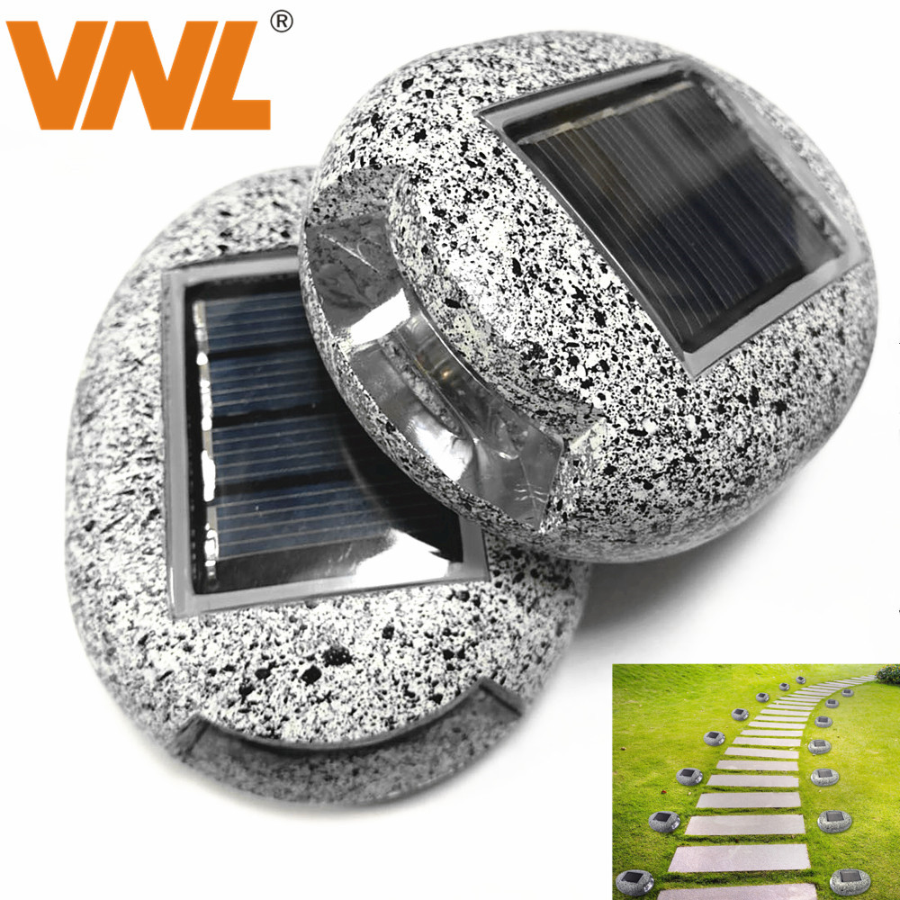 VNL IP65 Solar Powered Ground Lights LED Solar Path Light Stone Shape Outdoor Landscape Lighting For Garden Yard Driveway Lawn