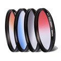 Zomei 52/55/58/62/67/72/77/82mm Graduated Color Filter Gradient Orange/Red/Blue/Gray Filter for Canon Nikon Sony Pentax Lenses