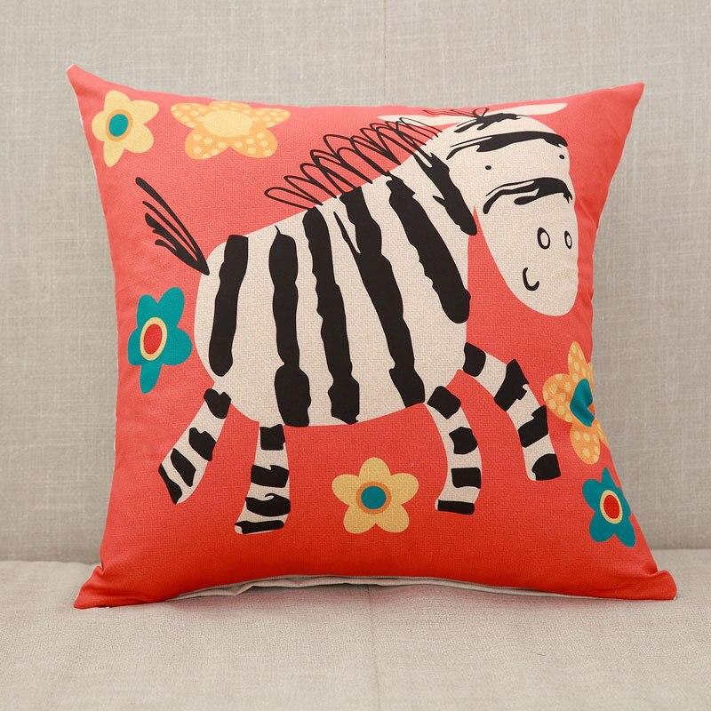YWZN милый мультяшный чехол для подушки с котом, креативный чехол для подушки с изображением жирафа, декоративный чехол для подушки со слоном, funda cojin kussenhoes - Цвет: 11