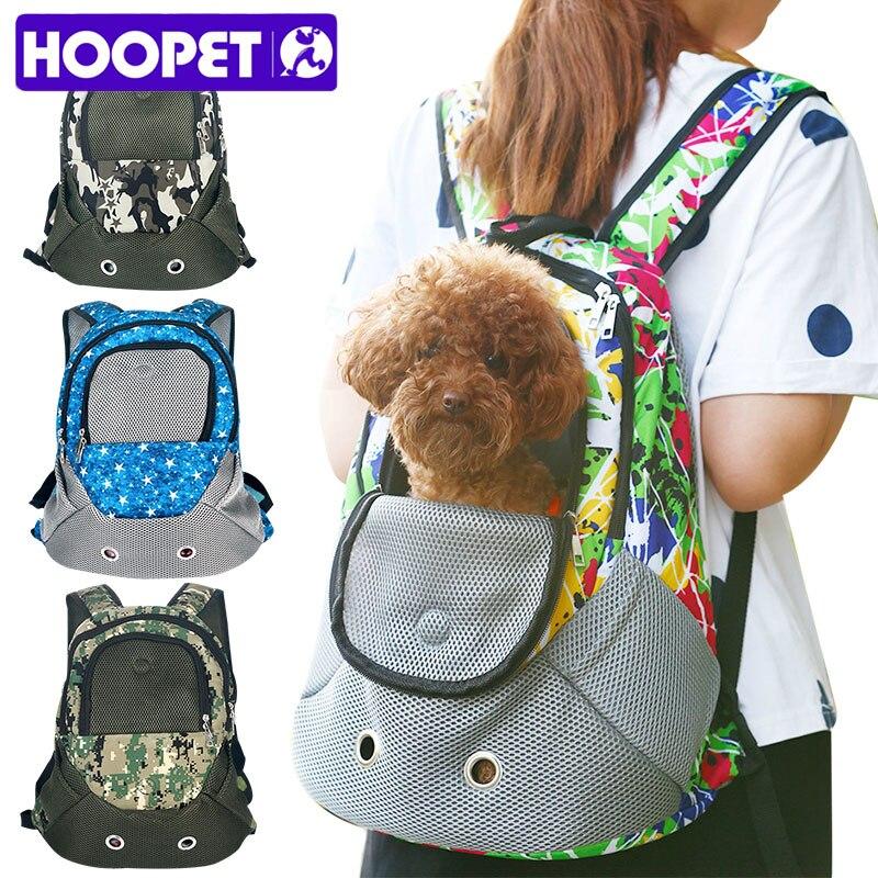 HOOPET Pet Carrier Shoulders Back Front Pack Dog Cat Travel Bag Mesh Backpack Head out Design Travel Adjustable Shoulder Strap