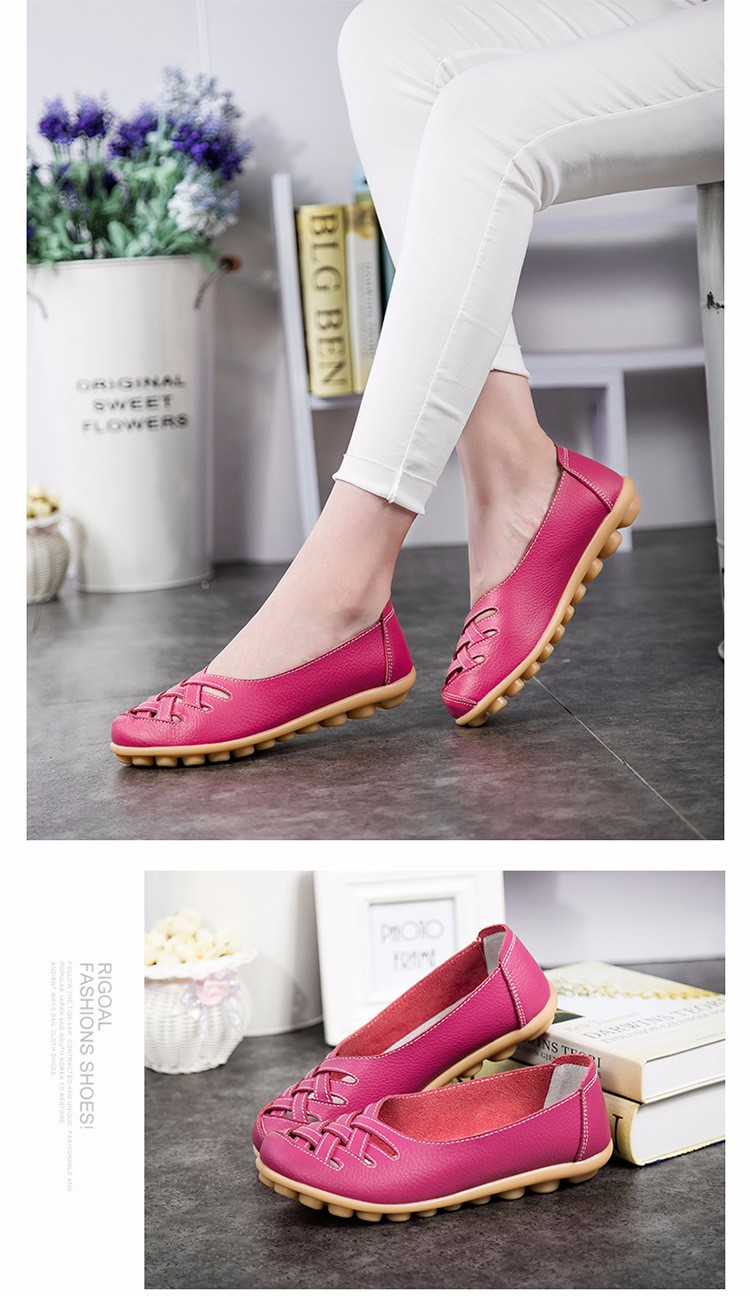 Hot Sale 2016 Spring New PU Leather Woman Flats Moccasins Comfortable Woman Shoes Cut-outs Leisure Flat Woman Casual Shoes ST181 (36)