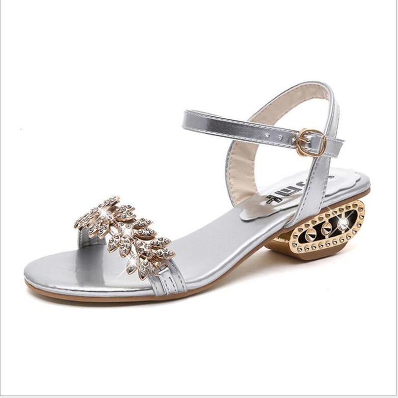 Verano nueva estación europea Palabra hebilla Sandalia boca de - Zapatos de mujer - foto 3