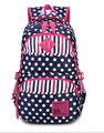 Mujeres Mochila Portátil impermeable bolsas Escolares para adolescentes Mujeres Dot Printing Ladies mochila de viaje mochilas bolso satchel