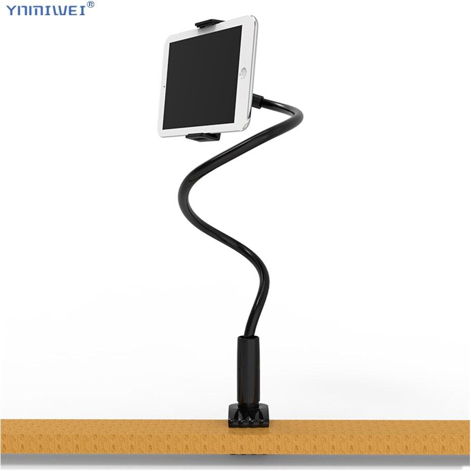 Большой размер держатель для планшета 75 см длинная кровать/Настольная подставка для iPad Pro 11 Поддержка зажима кронштейн 4,7 до 12,6 дюймов планш...