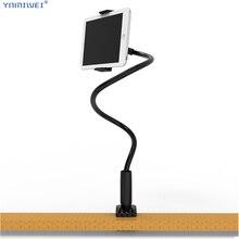 Duży rozmiar uchwyt na Tablet 75cm długie ramię łóżko/pulpit dla iPad Pro 11 Tablet stojaki wspornik klip 4.7 do 12.6 cala Tablet