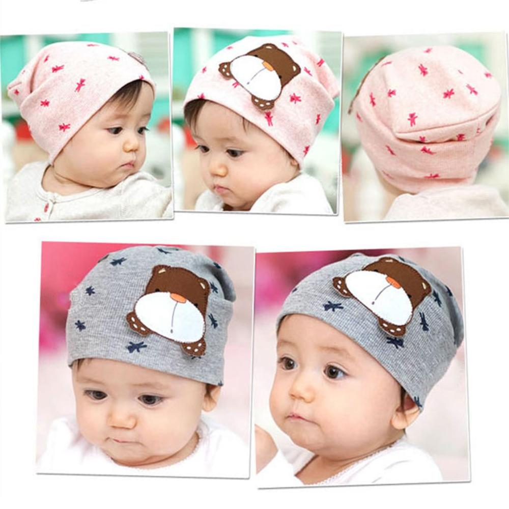 Cute Beanie Baby Hat Kids Baby Photo Props Lovely Animal Pattern Elastic Cotton Hat Cap For Baby 6-36 Months