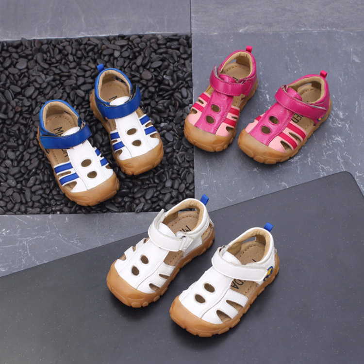 High Quality Summer Kids Shoes Brand Closed Toe Toddler Boys Girls Sandals Orthopedic Sport Genuine Leather Baby Boys Sandals