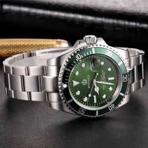Image 5 - Reginald Reloj de acero japonés para hombre, Miyota Movt sólido Endlink, bisel giratorio, fecha GMT, relojes de cuarzo de acero inoxidable, resistente al agua