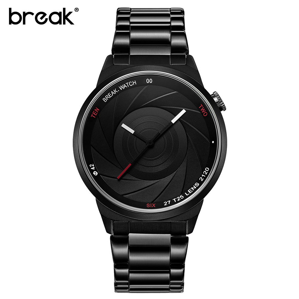BREAK Photographer Series Unique Camera Style stainless Strap Men Women Casual Fashion Sport Quartz Modern Gift Wrist Watches break photographer series unique camera style stainless strap men women casual fashion sport quartz modern gift wrist watches