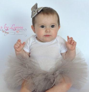 Newest gray  fluffy   tulle kids children pink Photography girl tutu skirt toddler baby costume ball gown ballet pettiskirt