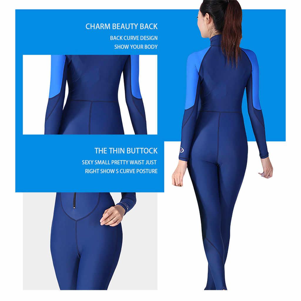 Perimedes wetsuit dalgıç giysisi Kadınlar UV Koruma Çok fonksiyonlu Güneş Koruyucu Tek Parça Tam vücut Uzun Kollu Mayo # g45
