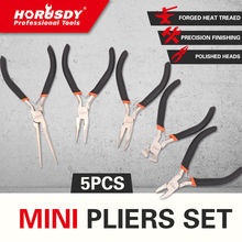 HORUSDY 5pcs Jewelers Pliers Set Jewelry Making Beading Wire Cutter Repair Pry Open Tool 5 Mini Electronic Kit Hand
