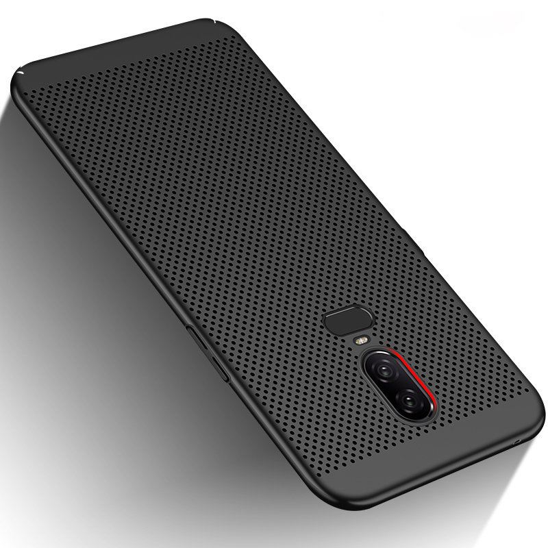 Hollow Ultra Thin <font><b>Case</b></font> For <font><b>Oneplus</b></font> 6 <font><b>6T</b></font> 5 5T Heat Dissipation Protective Capas Back Cover One Plus 5T 5 <font><b>6T</b></font> 6 <font><b>Bumper</b></font> Housing image