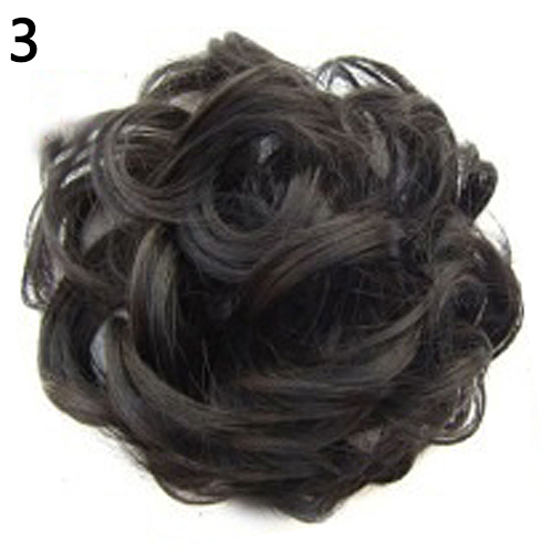 Fashion Women Wavy Curly Bun Synthetic Bud Hair Extension Chignon Hairpieces Hair Piece Updo Cover Hairpiece Extension Hair Bun