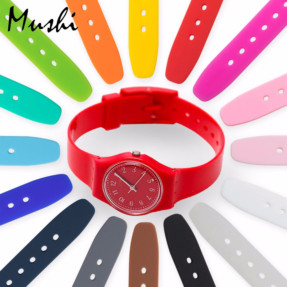 MS Watch Strap for Swatch Watch Bracelet Soft Waterproof Silicone Replacement 12 mm Rubber Watch Band Men Women 16 colors eache silicone watch band strap replacement watch band can fit for swatch 17mm 19mm men women