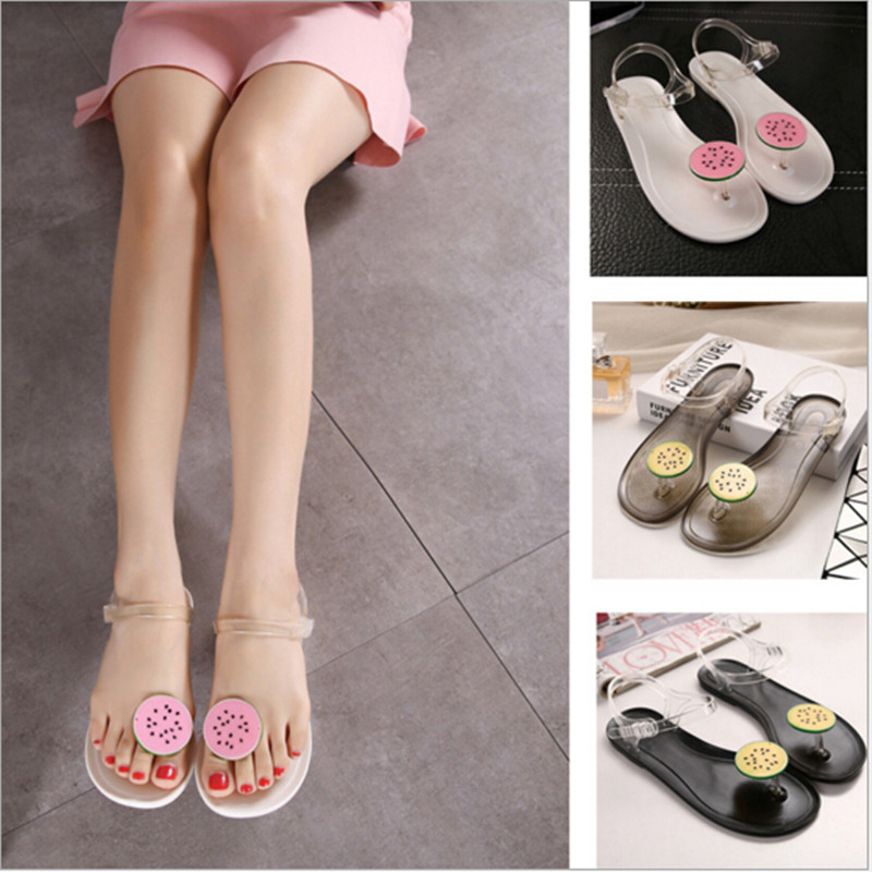 Well known Woman Sandals Pineapple Flip Flops Beach Jelly Sandal Water Shoes  MU25