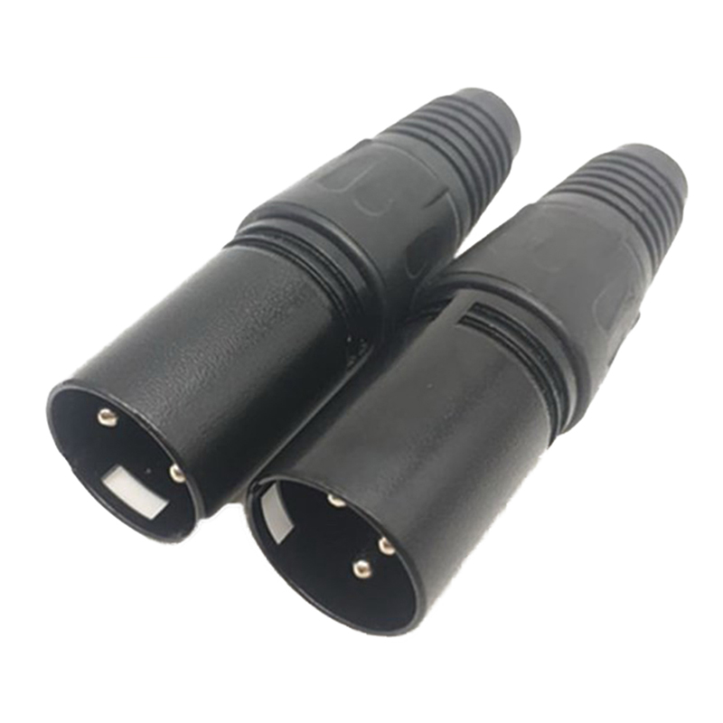 1pc XLR 3 Pin Male MIC Snake Plug Audio Microphone Cable Connector Mount Adapter