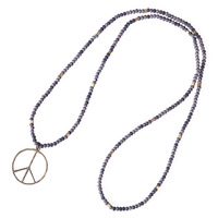 New Arrival Handmade Long Chain Bohemian Natural Stone Bead Pendant Necklace For Women S Gift With