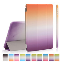 For Ipad Air Magnet Funda 9 0inch Pu Leather For Apple Ipad 5 With Plastic Back