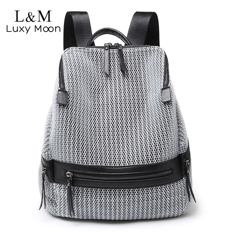 2019 Women's Nylon Backpack Casual Women Large Backpacks School Bags For Teenage Girls Female Lightweight Travel Rucksack XA250H