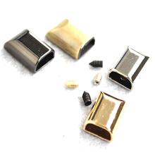 11*17mm dół zapięcie blokada zamka błyskawicznego DIY torby na zamek błyskawiczny skóra Craft odzież akcesoria do szycia tanie tanio H-596 Metal Rongxiao