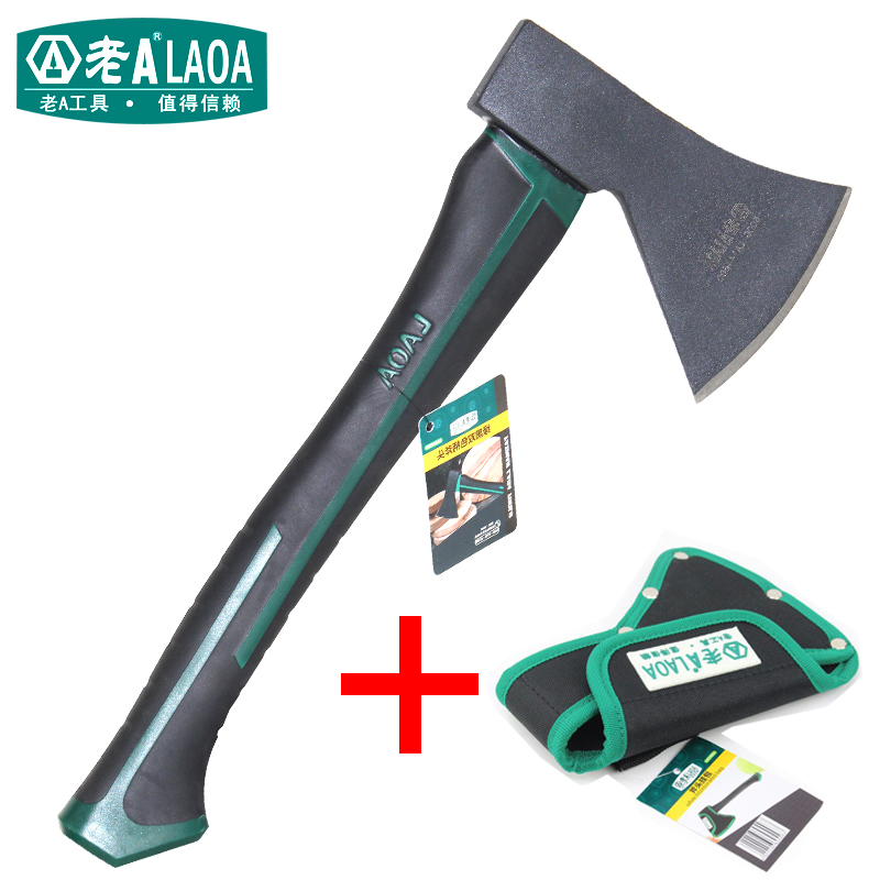 LAOA Felling Axe Outdoors Cut Trees Axes Double Color Rubber Handle Wood Axe Household Firewood Axes specials can be wooden handle steel handle felling firewood cut bamboo garden pruning sickle contempt shinai